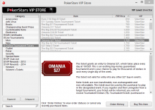 PokerStars VIP Store Online Tournament Tickets